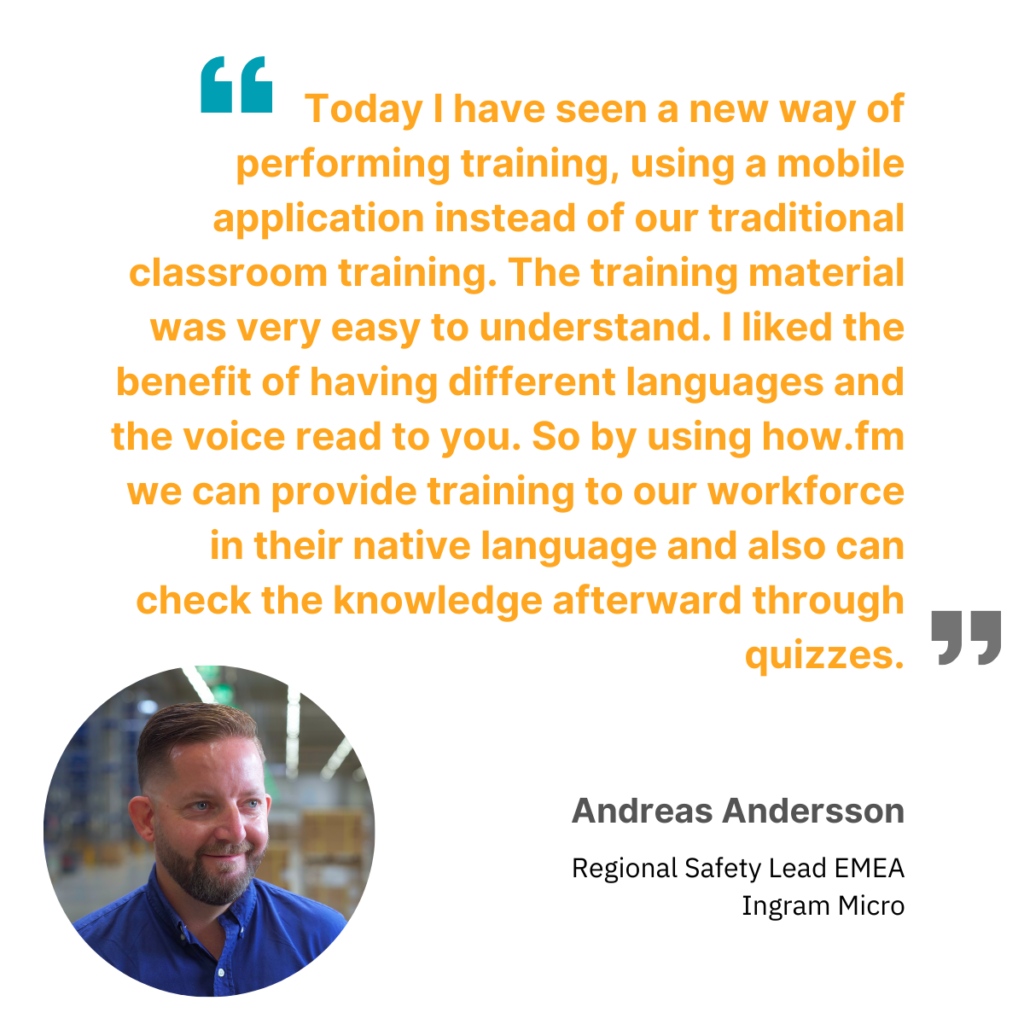 Andreas Andersson on safety training online with how.fm